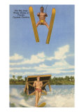 Water Skiers, Florida Poster