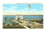 Pier am Monroe-See, Sanford, Florida Poster