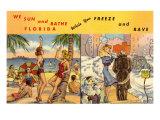 Il sole della Florida e l'inverno in città Poster
