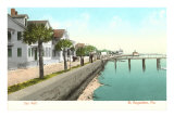 Sea Wall, St. Augustine, Florida Posters