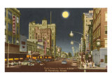 Moon over St. Petersburg, Florida Posters