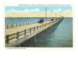 Puente Gandy, bahía de Tampa, Florida Lámina giclée premium