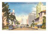 Collins Avenue, Miami Beach, Florida Poster