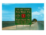 Highway 1, Key West, Florida Posters