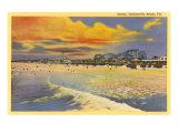 Sunset, Jacksonville Beach, Florida Poster