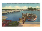 Bridge, Dock, St. Petersburg, Florida Posters