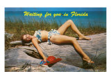 Waiting for you in Florida, Bathing Beauty Posters