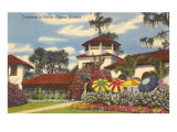 Clubhouse, Cypress Gardens, Florida Poster