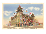 Chinese Temple, Chicago, Illinois Posters