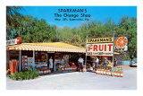Sparkman&#39;s Orange Shop, Sumtervlle, Florida Posters