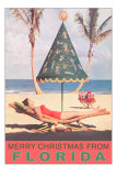 Merry Christmas from Florida, Festive Umbrella Posters