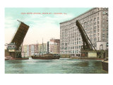 Jack Knife Bridge, Chicago, Illinois Print