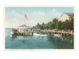 Boat Landing, Palm Beach, Florida Posters