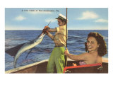 Catching a Sailfish, Ft. Lauderdale, Florida Print