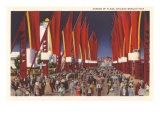 Avenue of Flags, Chicago World's Fair Print