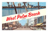 Greetings from West Palm Beach, Florida Posters
