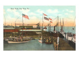 Navy Docks, Key West, Florida Posters