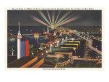 Night View of Sky Ride, Chicago World's Fair Posters