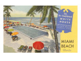 White House Hotel, Miami Beach, Florida Posters