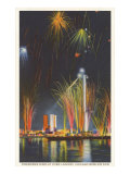 Fireworks Display, Chicago World's Fair Posters