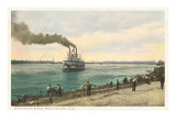 River Boat, Rock Island, Illinois Print