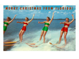 Water Skiers, Merry Christmas from Florida Posters