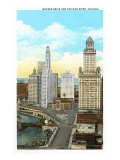 Wacker Drive, Chicago, Illinois Print