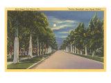 Mond über Fort Myers, Florida Poster
