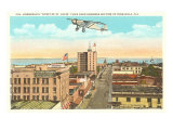 Spirit of St. Louis over Pensacola, Florida Poster