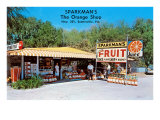 Sparkman's Orange Shop, Sumtervlle, Florida Poster