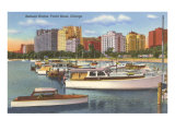 Belmont Yacht Harbor, Chicago, Illinois Posters