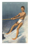 Barefoot Water Skier, Cypress Gardens, Florida Posters