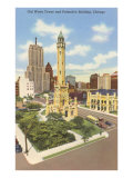 Water Tower and Palmolive Building, Chicago, Illinois Poster