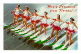 Merry Christmas from Florida, Water Skiers Posters