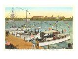 Pier im Westen von Palm Beach, Florida Poster