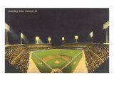 Comiskey Park, Night, Chicago, Illinois Print