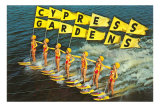 Water Skiers, Cypress Gardens, Florida Photo