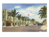 Shopping Street, Palm Beach, Florida Poster