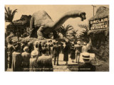 Sinclair Dinosaur Exhibit, Chicago World's Fair Print