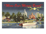 Moon over Miami Beach Print