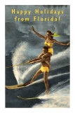 Happy Holidays from Florida, Water Skiers Posters