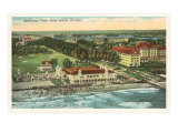 Aerial View of Palm Beach, Florida Posters