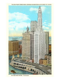 Mather Tower and London Guarantee, Chicago, Illinois Posters