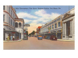 Business District, Ft. Myers, Florida Poster