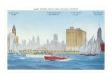 Lake Shore and Harbor, Chicago, Illinois Print