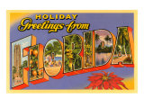 Holiday Greetings from Florida Print