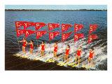 Water Skiers, Cypress Gardens, Florida Giclée-Premiumdruck
