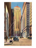 LaSalle Street, Chicago, Illinois Poster