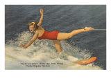 Trick Water Skier, Florida Poster