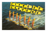 Skieuses nautiques, Cypress Gardens, Floride Posters